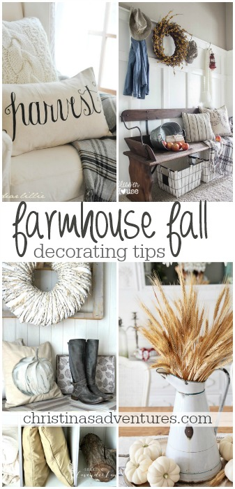 Farmhouse fall decorating tips