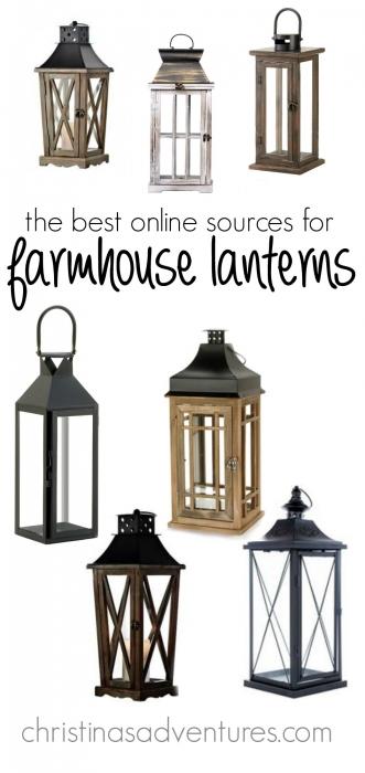 Where to buy farmhouse lanterns online