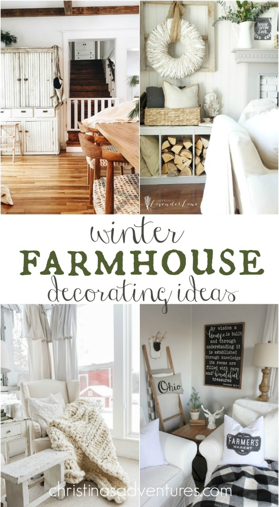 Winter farmhouse decorating