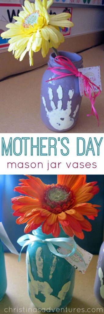 Mothers Day mason jar kids craft