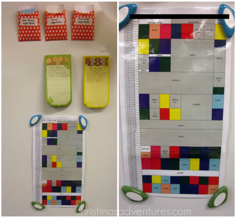 All of the color blocks represent the different colored centers in my ...
