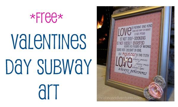 Valentines Day Art {free printable}