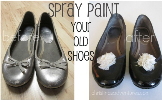 spray paint shoes