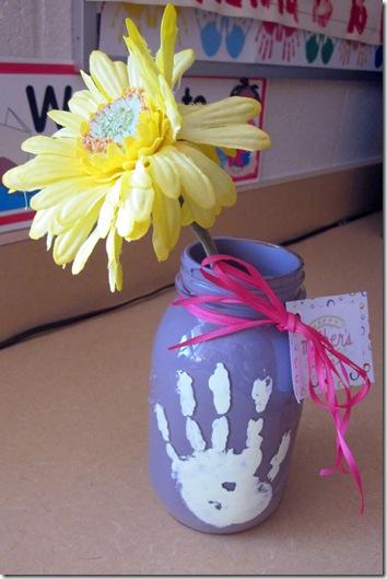 Mothers Day mason jar vase