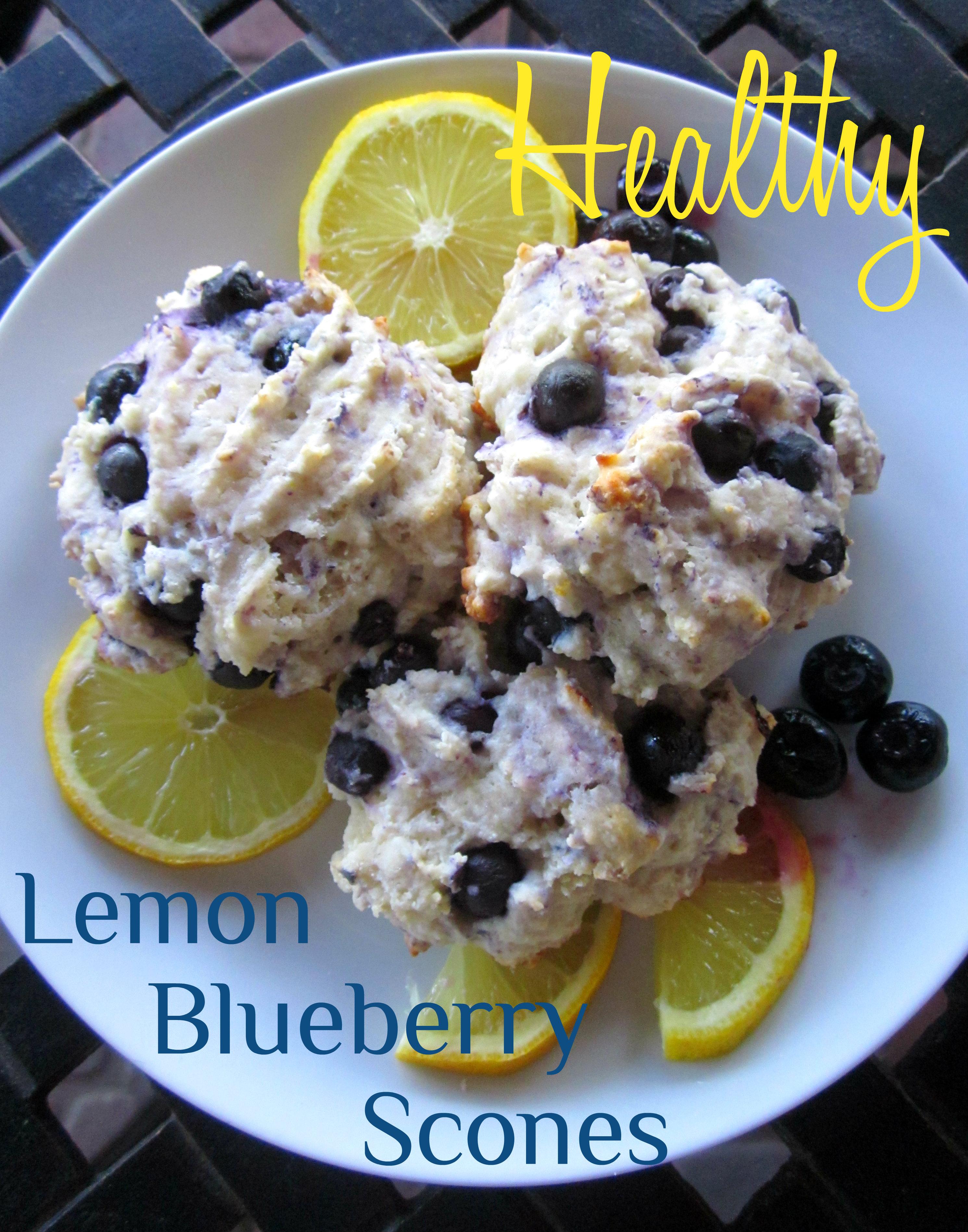 Healthy Lemon Blueberry Scones