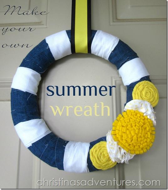 Summer Wreath {navy & yellow}