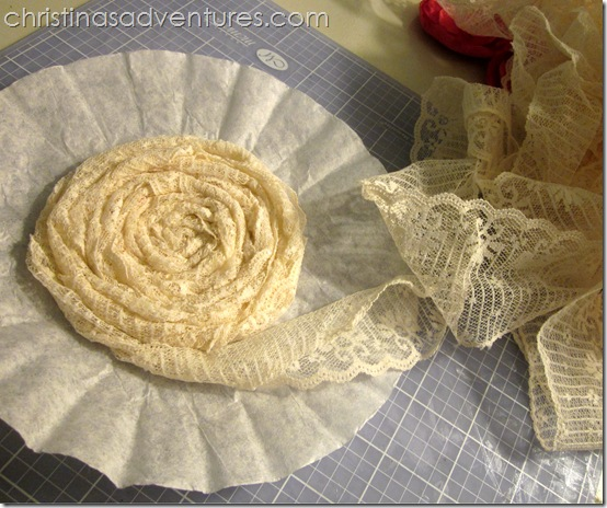 Coffee Filter Flower lace