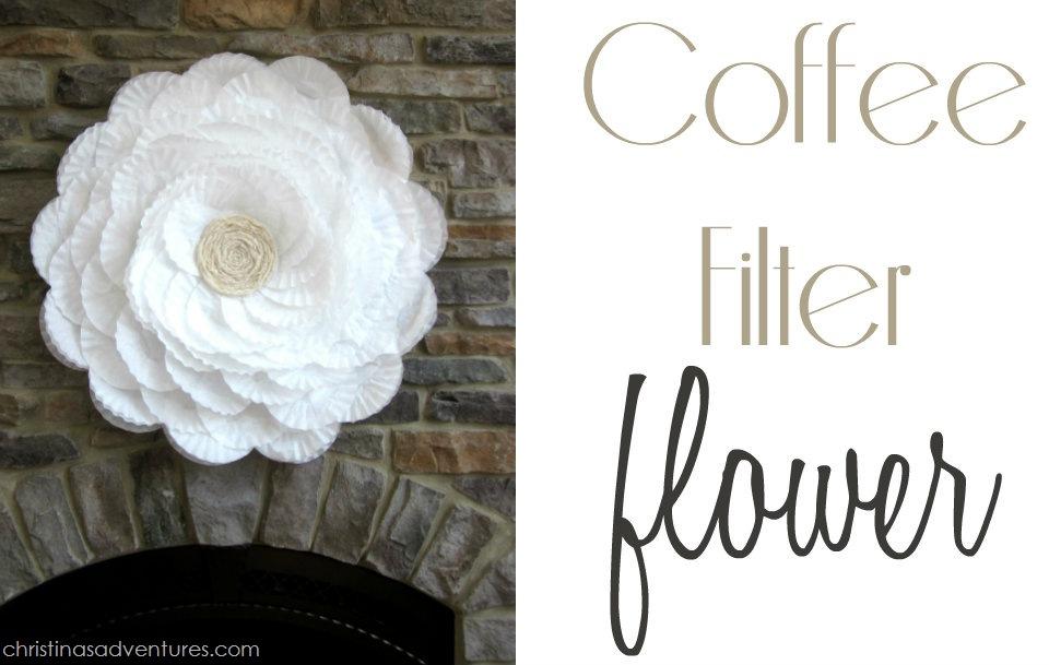 bridal shower decoration ideas homemade.htm coffee filter flower  bridal shower decor   coffee filter flower  bridal shower decor