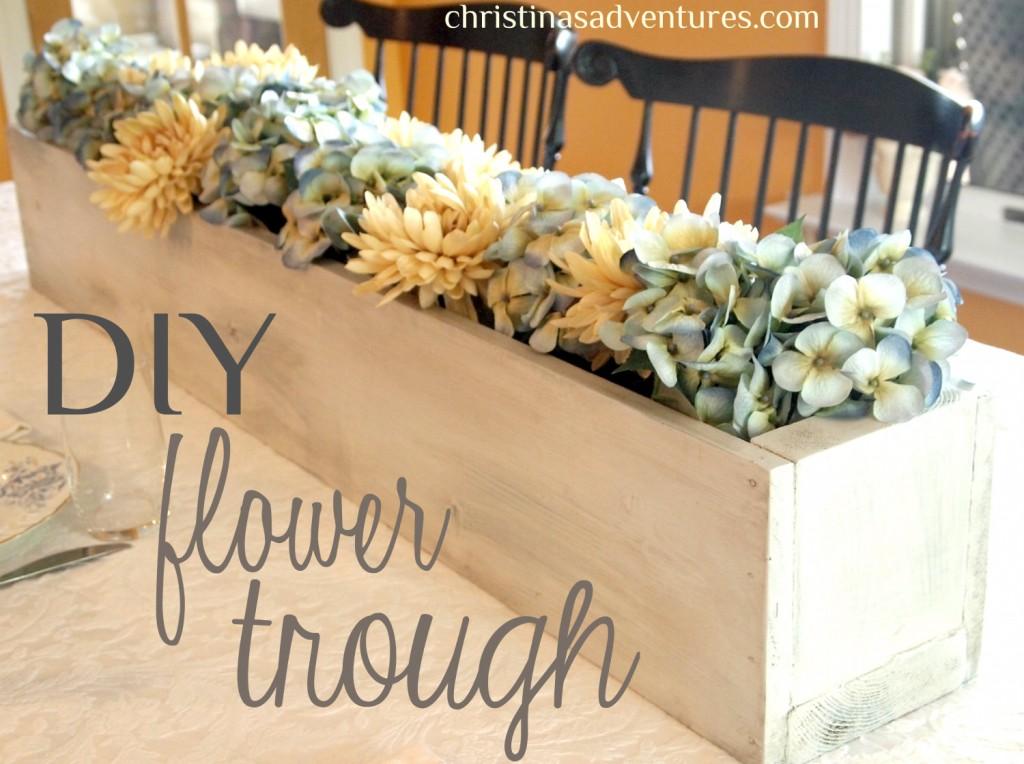 DIY Flower Trough
