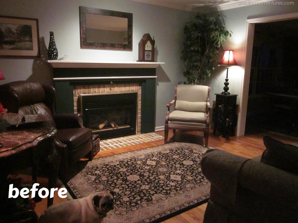 Living Room Make-Over! {Tan, White, Blue} - Christinas Adventures