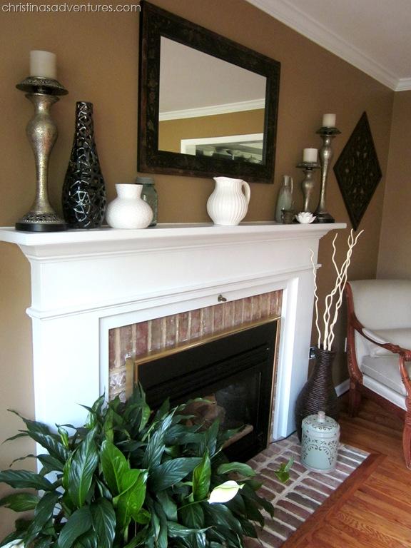 Living Room Make Over Tan White Blue Christinas Adventures