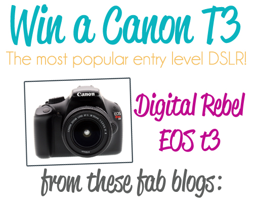 WIN a DSLR Canon T3 camera! {give-away}