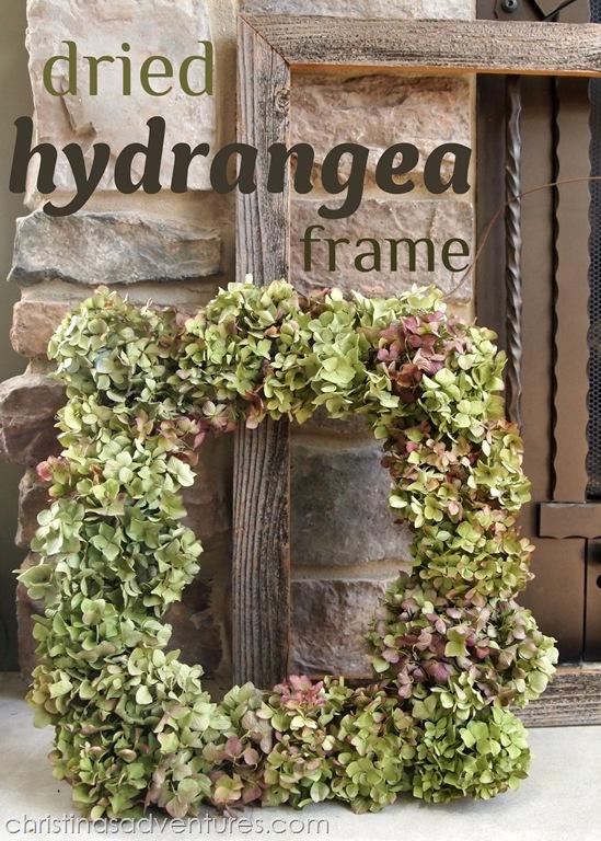 Dried Hydrangea Frame