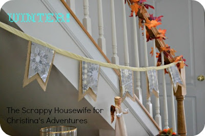 GP: The Scrappy Housewife: holiday burlap banner tutorial
