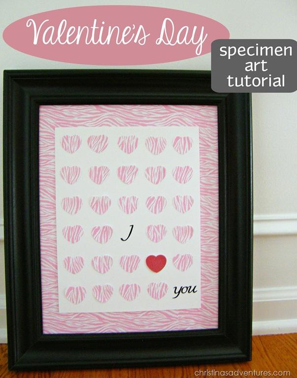 Valentine's Day Craft: Specimen Art Tutorial