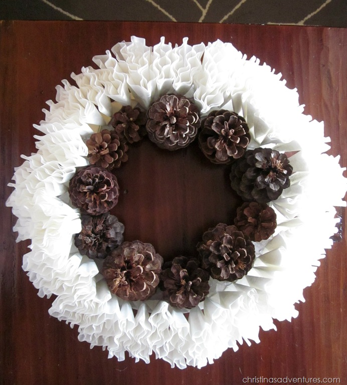 winter wreath coffee filters