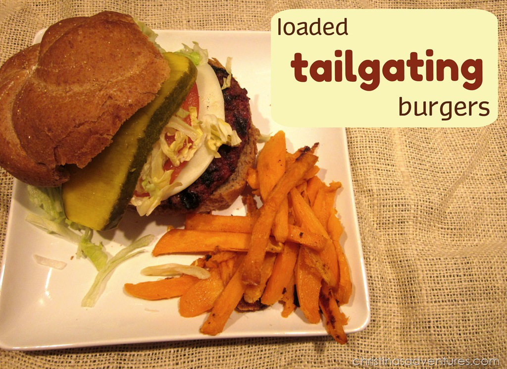 Loaded Tailgating Burgers {game day food}