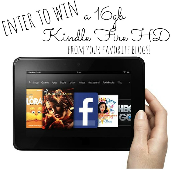 GIVEAWAY- Kindle Fire!