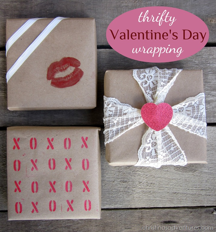 Thrifty Valentine's Wrapping