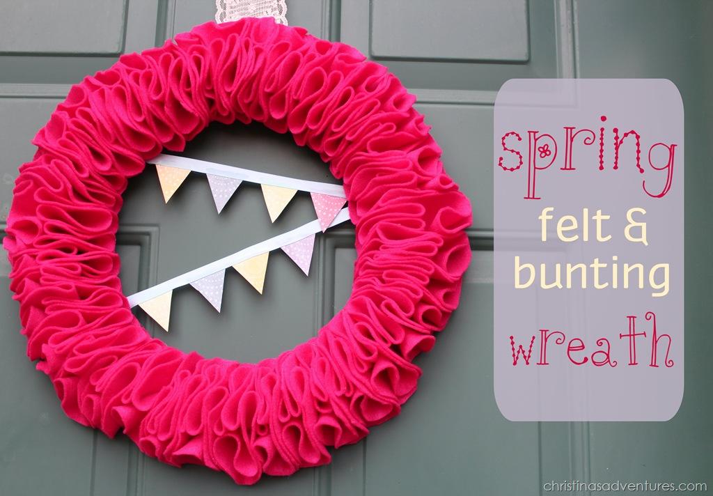 Spring Felt & Bunting Wreath