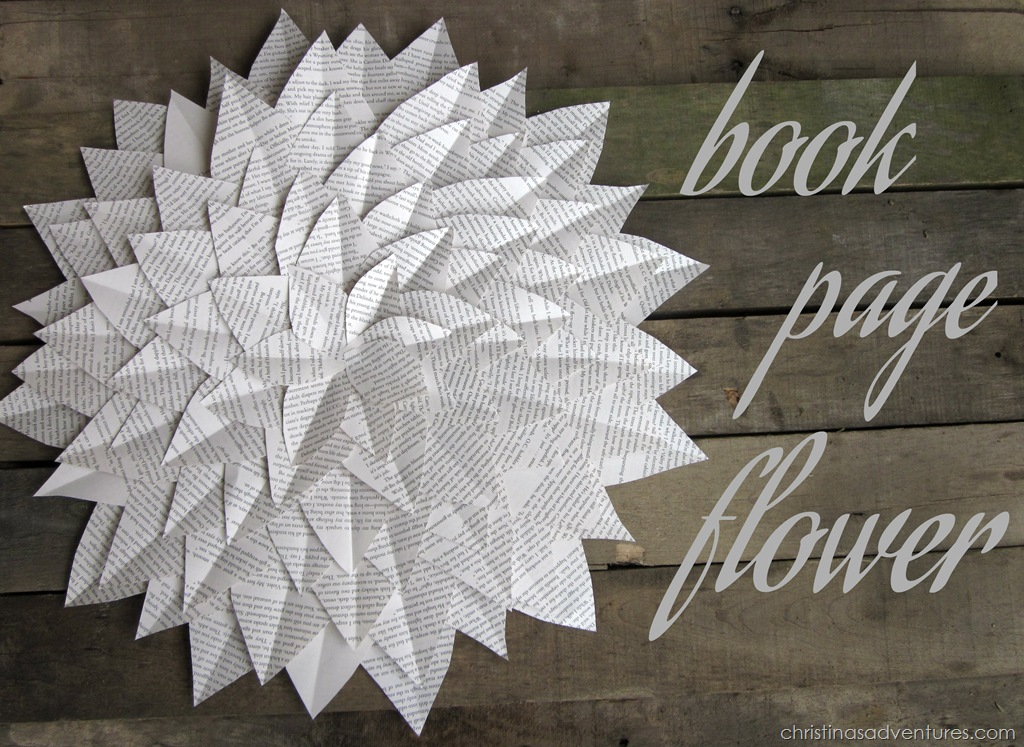 Book Page Flower Tutorial