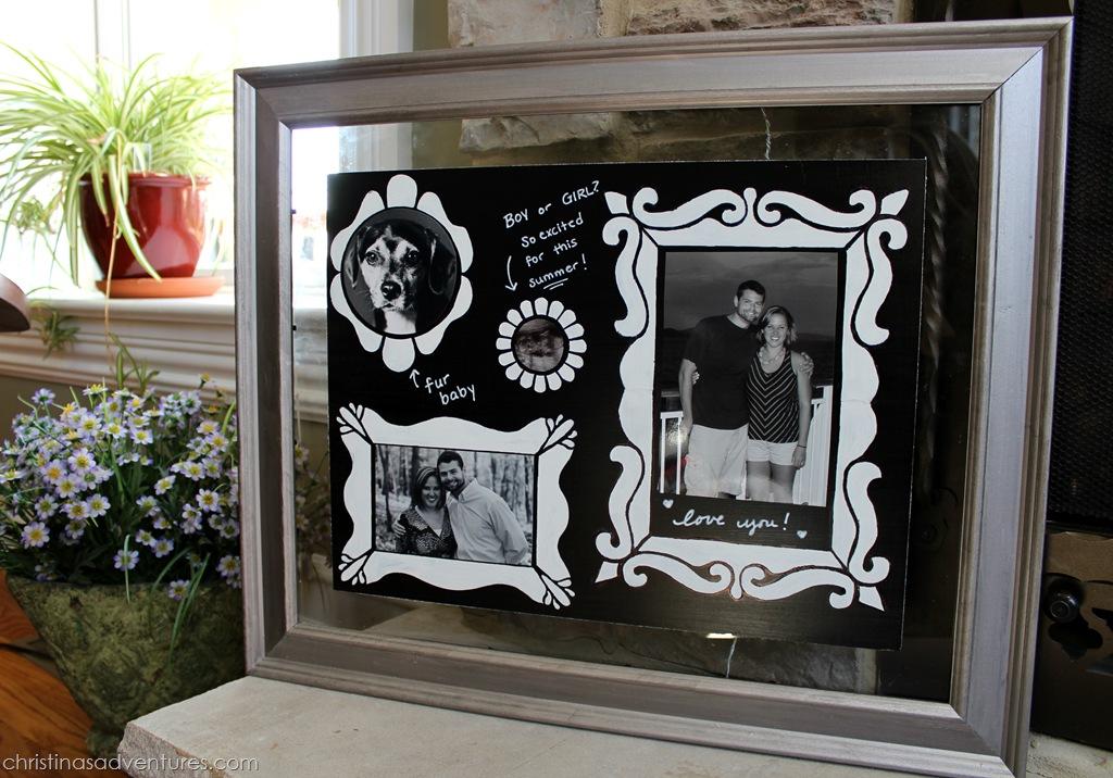 Interchangeable chalkboard frame