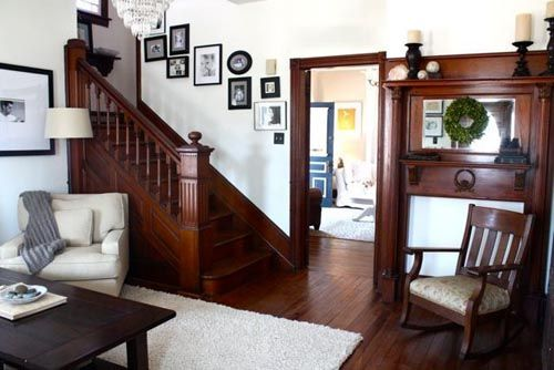 Decorating with wood trim for Wall colors with dark wood trim