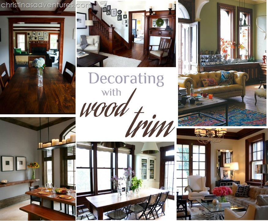 decorating with wood trim - Paint Colors That Go With Dark Wood Trim