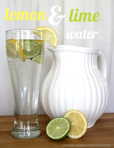 lemon and lime flavored water