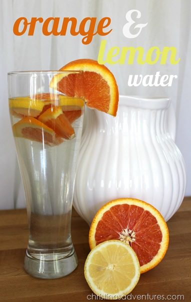 orange and lemon flavored water