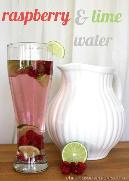 raspberry and lime flavored water