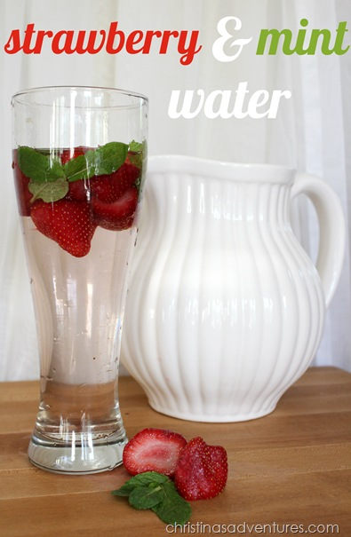 strawberry and mint water