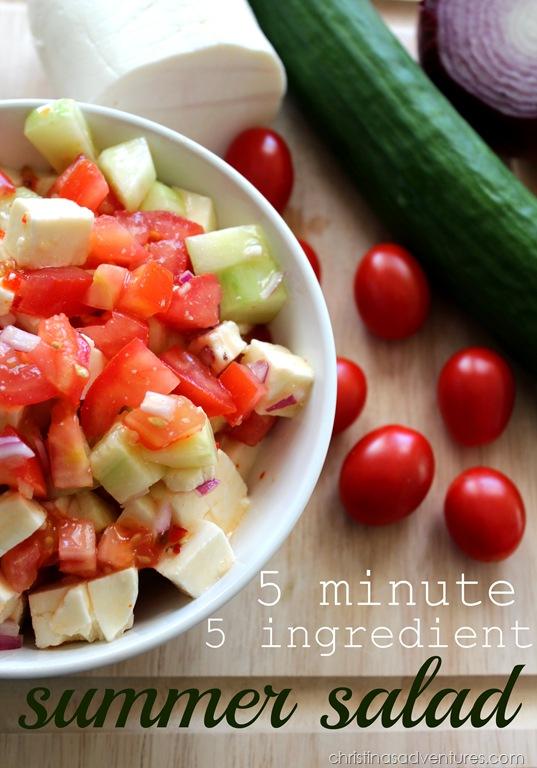 5 minute 5 ingredient Summer Salad Recipe