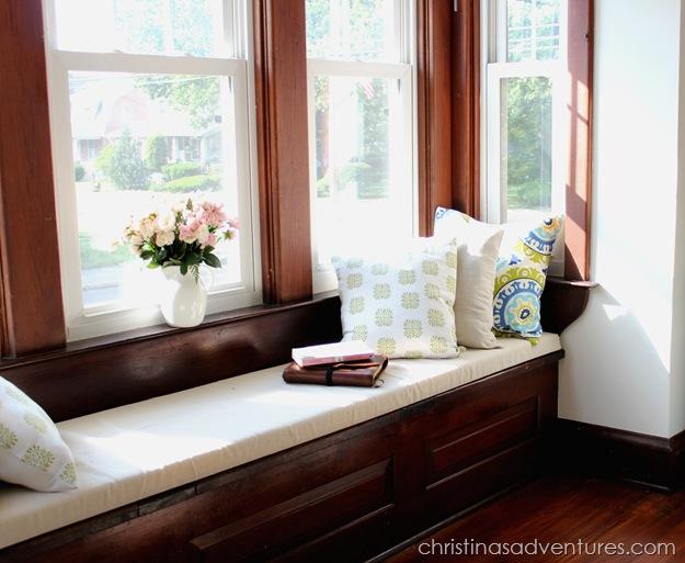 diy window seat cushion