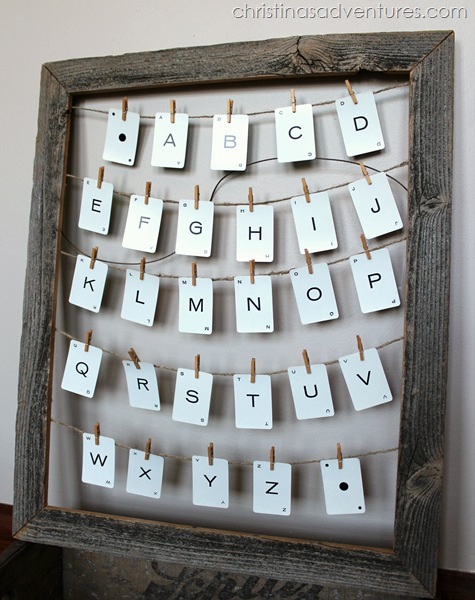 vintage alphabet art