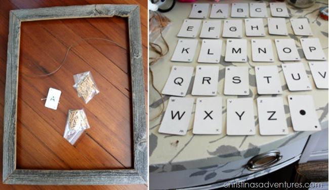 vintage alphabet art tutorial 1