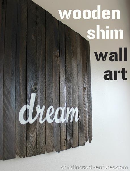 wooden shim wall art