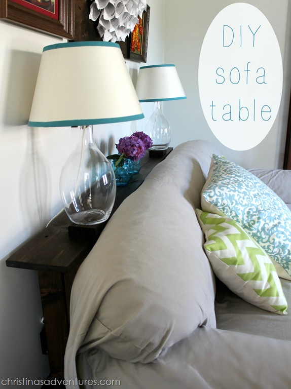 Easy Diy Sofa Table Tutorial Christinas Adventures