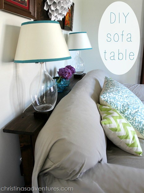 DIY Sofa Table