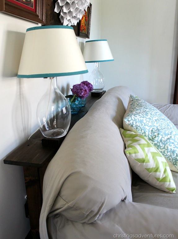 Easy diy sofa table tutorial christinas adventures for Table behind couch