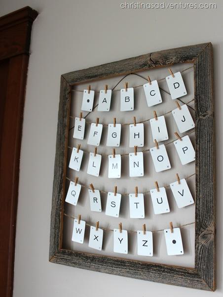 neutral nursery alphabet art