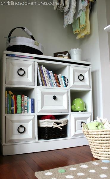 neutral nursery closet
