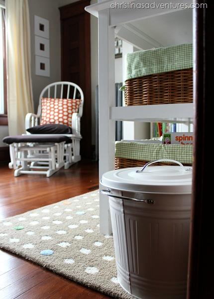 neutral nursery diaper pail