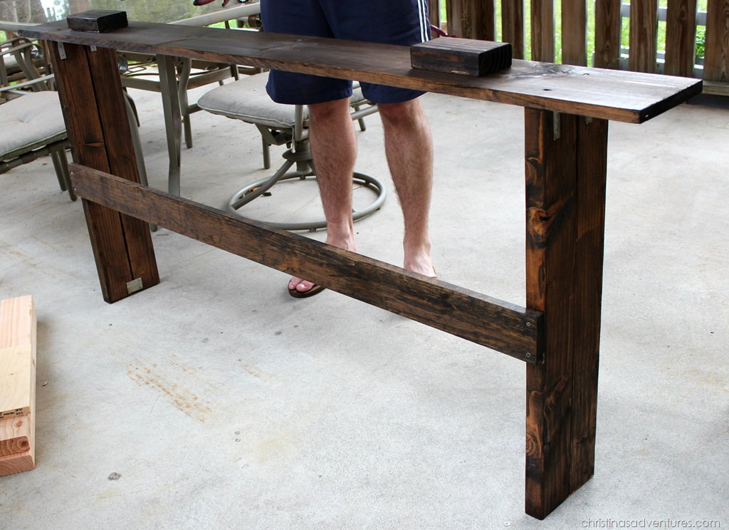 Easy Diy Sofa Table Tutorial Christinas Adventures