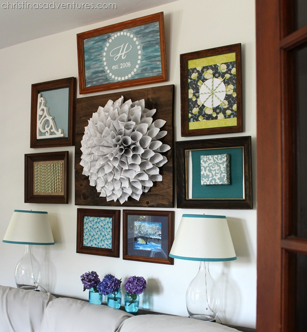 wood frame gallery wall 2
