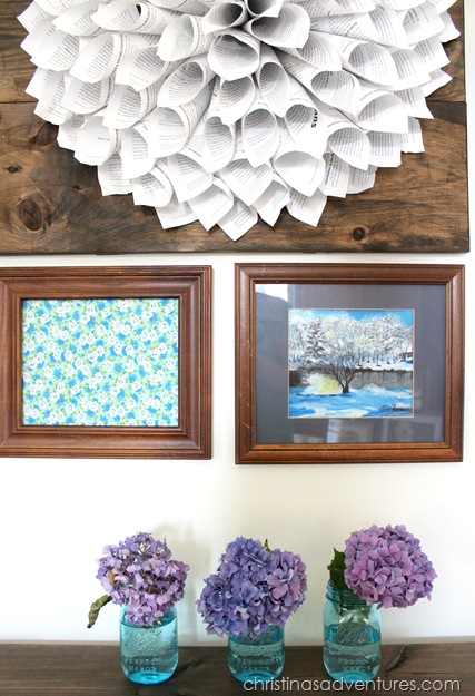 wood frame gallery wall 4