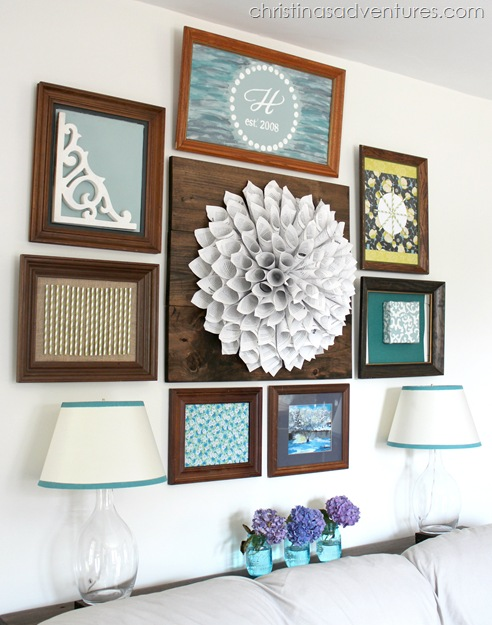 wooden frame gallery wall 1