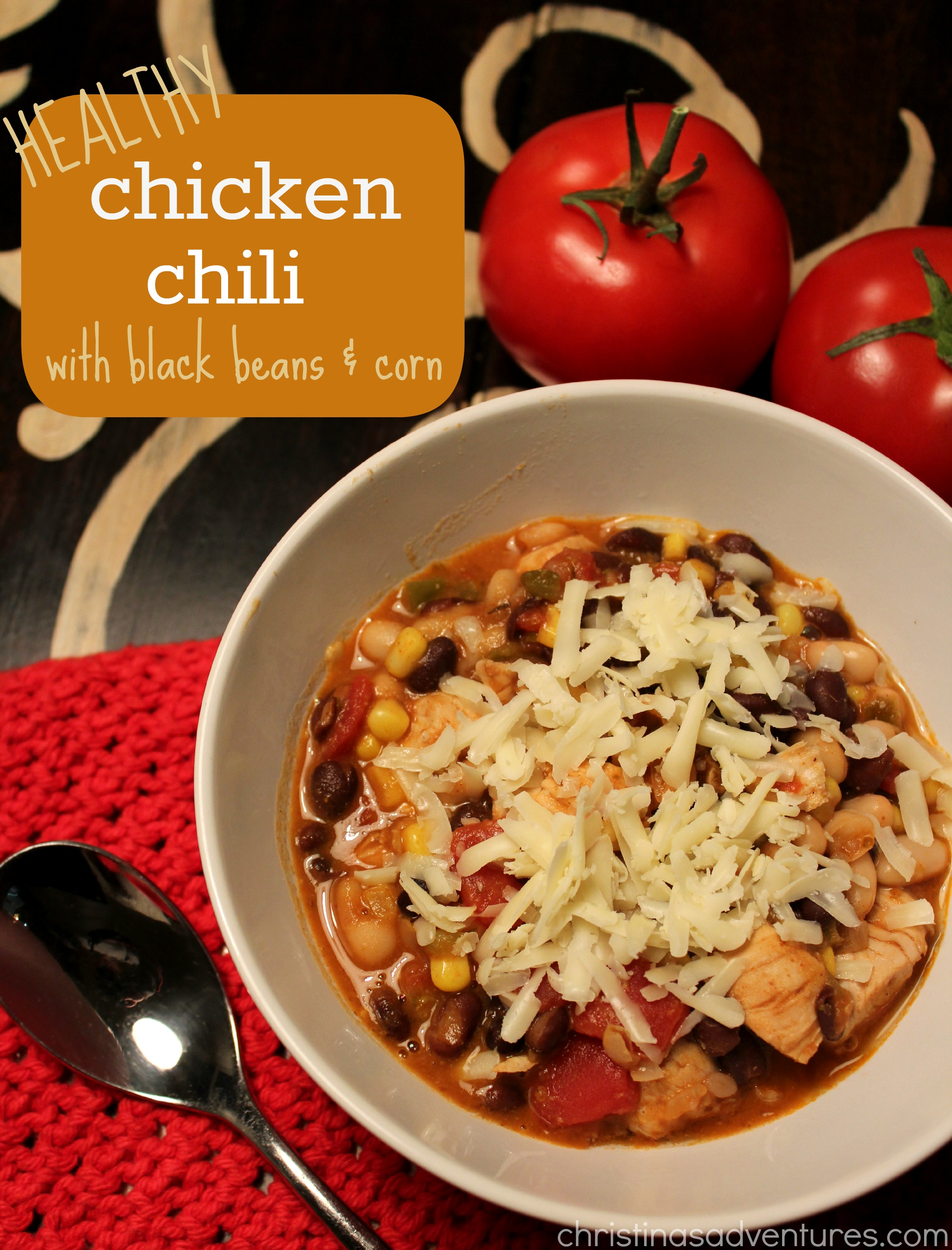 Healthy Chicken Chili Recipe (and a giveaway!)