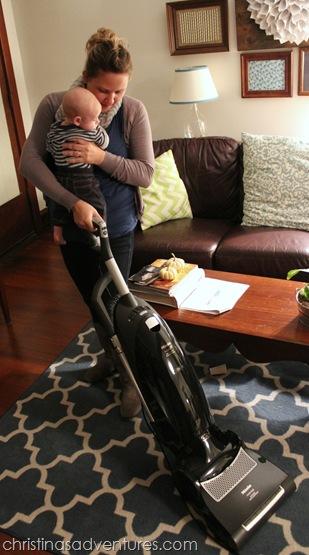 vacuuming with isaac