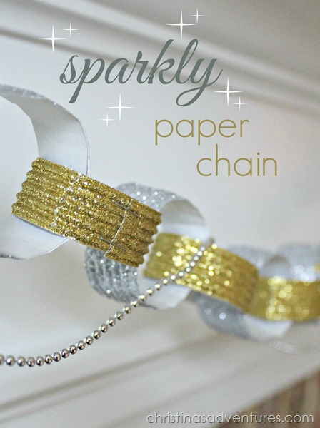 sparkly paper chain tutorial